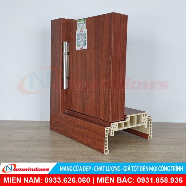 Góc mẫu cửa gỗ nhựa composite nw